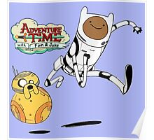 Adventure Time Finn and Jake Robot Poster