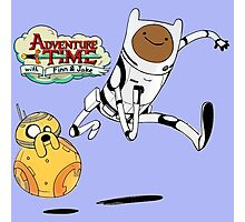 Adventure Time Finn and Jake Robot Photographic Print