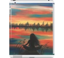 Sunset yoga iPad Case/Skin