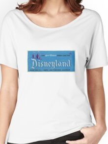 Vintage Disneyland, Vintage Poster Women's Relaxed Fit T-Shirt