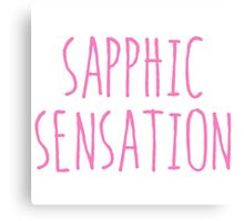 SAPPHIC SENSATION Canvas Print