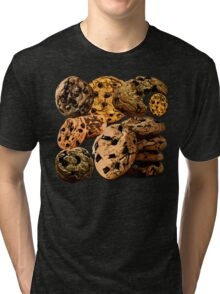 Chocolate Chip Cookies Tri-blend T-Shirt