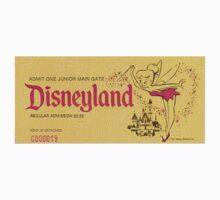Vintage Disneyland, Junior ticket, tink, tinkerbell Baby Tee