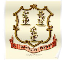 Historical Coat of Arms of Connecticut Poster