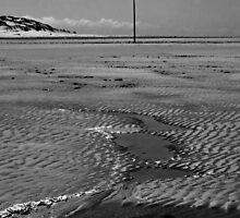 Walking on an empty beach by Yampimon