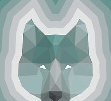 Teal Wolf by ozdesign