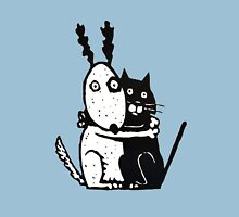 Bullie Dog and Black Cat Unisex T-Shirt