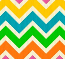 Multi, color, chevron,zig zag,pattern Sticker