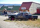 Retired police car, Centennial, Wyoming by Margaret  Hyde