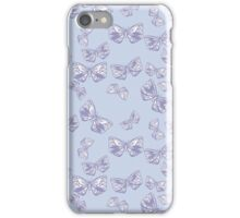 Moth Matrix in Lavender iPhone Case/Skin