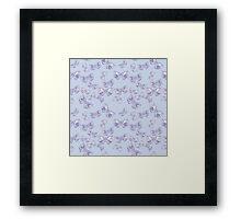 Moth Matrix in Lavender Framed Print