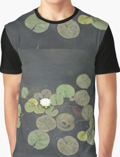 Just Chillin - A Little Turtle Relaxing on a Waterlily Leaf Graphic T-Shirt