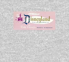 Vintage Disneyland, Magic Kingdom ticket Women's Fitted Scoop T-Shirt
