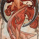 'Dance' by Alphonse Mucha (Reproduction) by Roz Abellera Art Gallery
