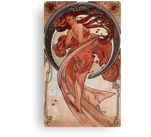 'Dance' by Alphonse Mucha (Reproduction) Canvas Print