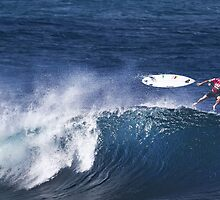 Michel Bourez At Billabong Pipe Masters In Memory of Andy Irons 2011 by Alex Preiss