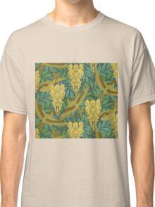 vintage,art nouveau,pattern,rustic,bird,floral Classic T-Shirt
