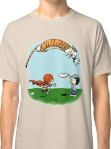 Tigerhobbes Play With Best Friend  Classic T-Shirt