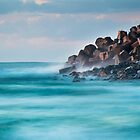 Dawn at the breakwater by shaynetwright