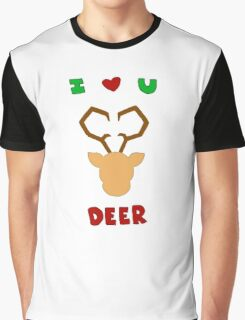 I love you deer Graphic T-Shirt