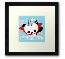 Funny Panda Pandicorn Framed Print