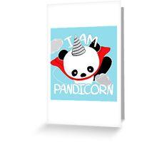 Funny Panda Pandicorn Greeting Card