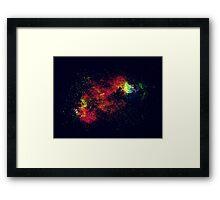 Galactic Splash Framed Print