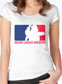 Major League Archers Women's Fitted Scoop T-Shirt