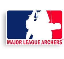 Major League Archers Canvas Print