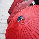 Red umbrellas 和傘 by Jenny Hall