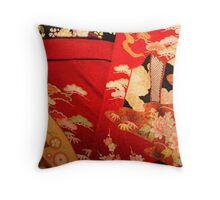 The red kimono 2 Throw Pillow