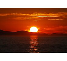 Sunset in Zadar Photographic Print