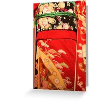 The red kimono Greeting Card