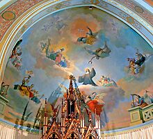 Art inside St Ildephonsus Chapel, New Norcia  by Graeme  Hyde