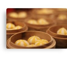 Stripey dumplings Canvas Print