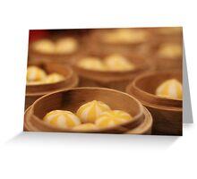 Stripey dumplings Greeting Card