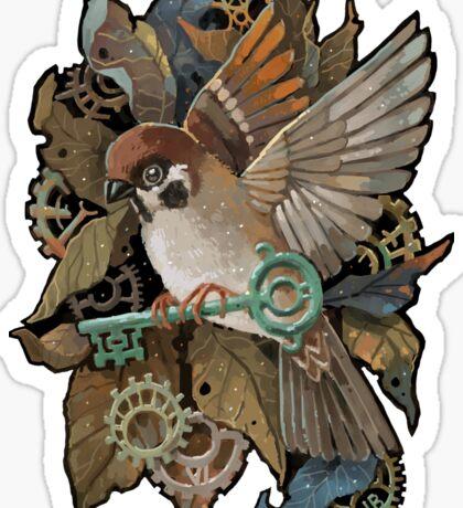 Clockwork Sparrow Sticker