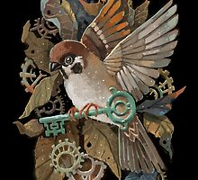 Clockwork Sparrow by freeminds