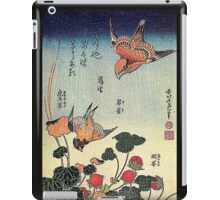'Wild Strawberries and Birds' by Katsushika Hokusai (Reproduction)  iPad Case/Skin