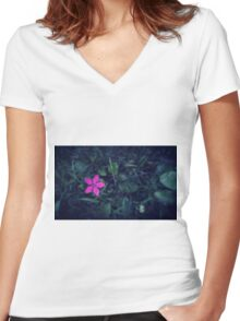 Wildflower is the best flower.  Women's Fitted V-Neck T-Shirt