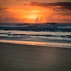 Beach dawn by shaynetwright