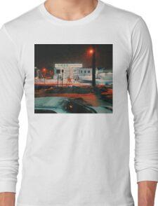 8:26, walking during a blizzard Long Sleeve T-Shirt