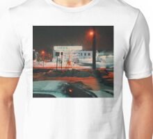 8:26, walking during a blizzard Unisex T-Shirt