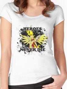 Mercy - Heroes Never Die Women's Fitted Scoop T-Shirt