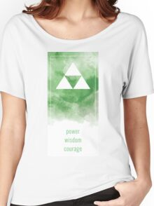 Power Wisdom Courage - Green Women's Relaxed Fit T-Shirt