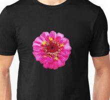 Pink Flower, Comic Book Halftone Unisex T-Shirt