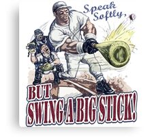 Swing A Big Stick Baseball Player T-shirt Canvas Print