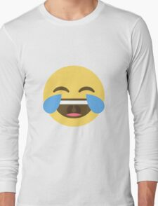 crying laughing emoji Long Sleeve T-Shirt