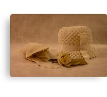 Mothers White Hat Canvas Print