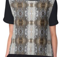 Feather Droplets Pattern Chiffon Top